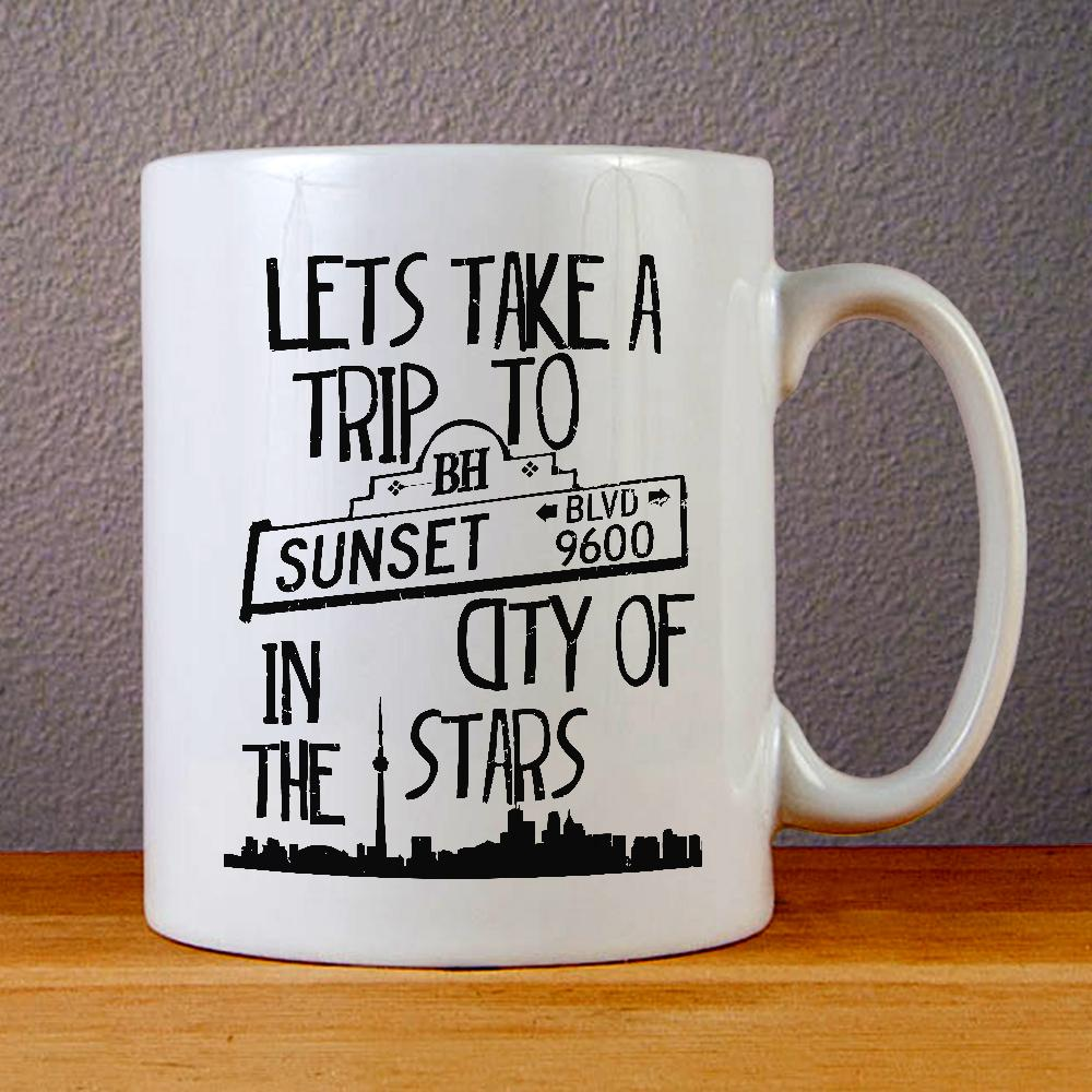 Sunsets Boulevard Quotes Ceramic Coffee Mugs