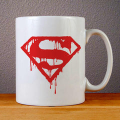 Superman Logo Ceramic Coffee Mugs