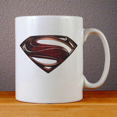 Superman Man of Steel Logo Ceramic Coffee Mugs