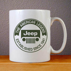 The American Legend Jeep Logo Ceramic Coffee Mugs
