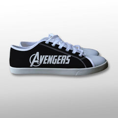 The Avengers Logo Canvas Shoes