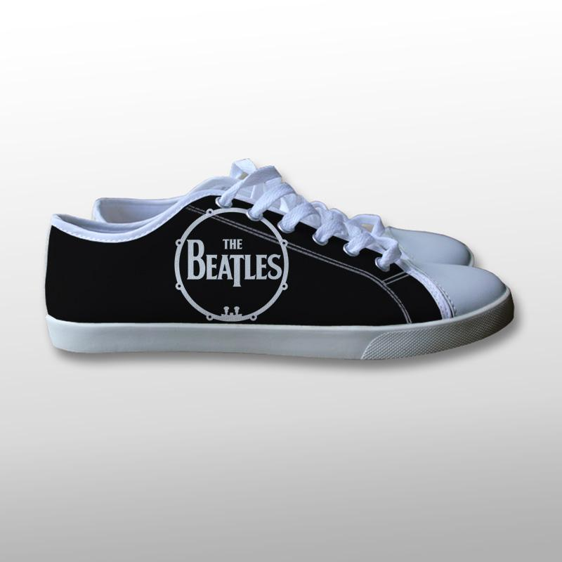 The Beatles Drum Logo Canvas Shoes
