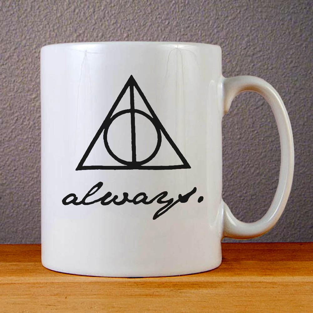 The Deathly Hallows Logo Always Ceramic Coffee Mugs
