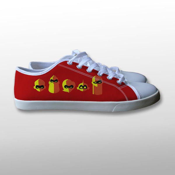 The Incredibles 2 Symbol Canvas Shoes