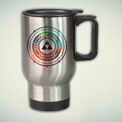 The Legend of Zelda Galaxy Aztec 14oz Stainless Steel Travel Mug