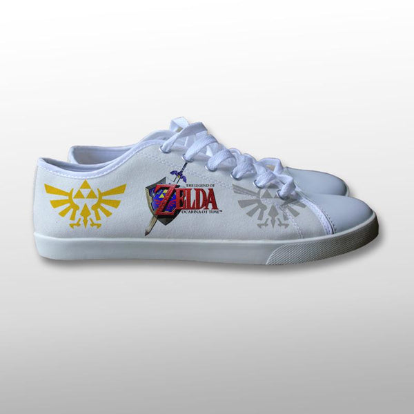 The Legend of Zelda Ocarin of Time Canvas Shoes