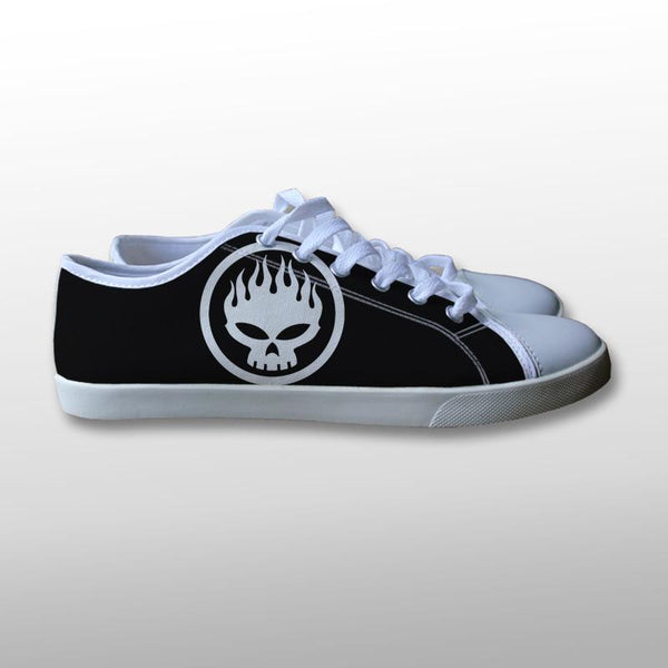 The Offspring Skull Symbol Canvas Shoes