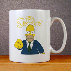 The Simpsons Homer Simpson Ceramic Coffee Mugs