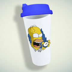 The Simpsons Homer Simpson Face Double Wall Plastic Mug