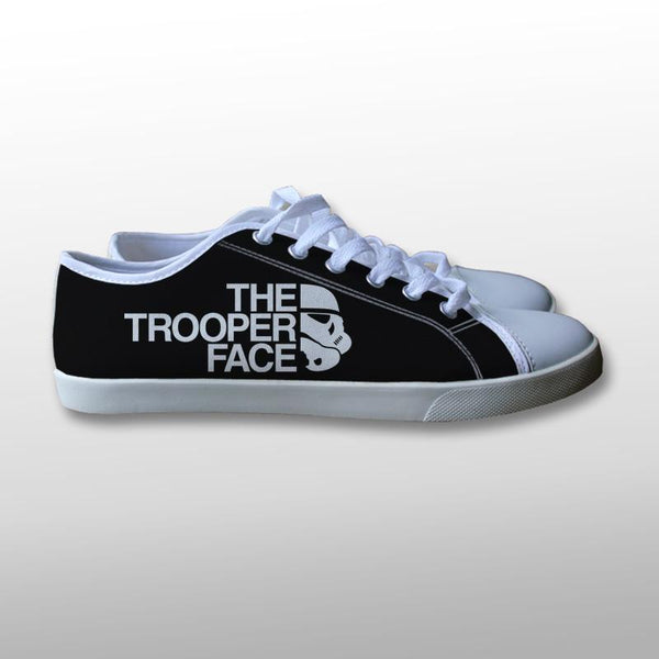 The Trooper Face Canvas Shoes
