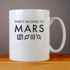 Thirty Seconds to Mars Logo Ceramic Coffee Mugs