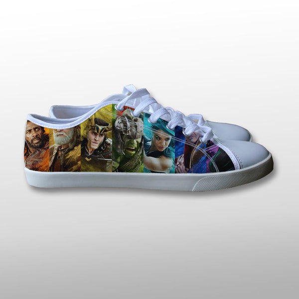 Thor Ragnarok Character Canvas Shoes