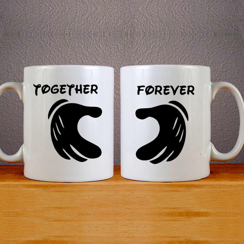 Together & Forever Couples Mug Set Wedding Mug Couples Gift