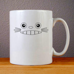 Totoro Face Ceramic Coffee Mugs