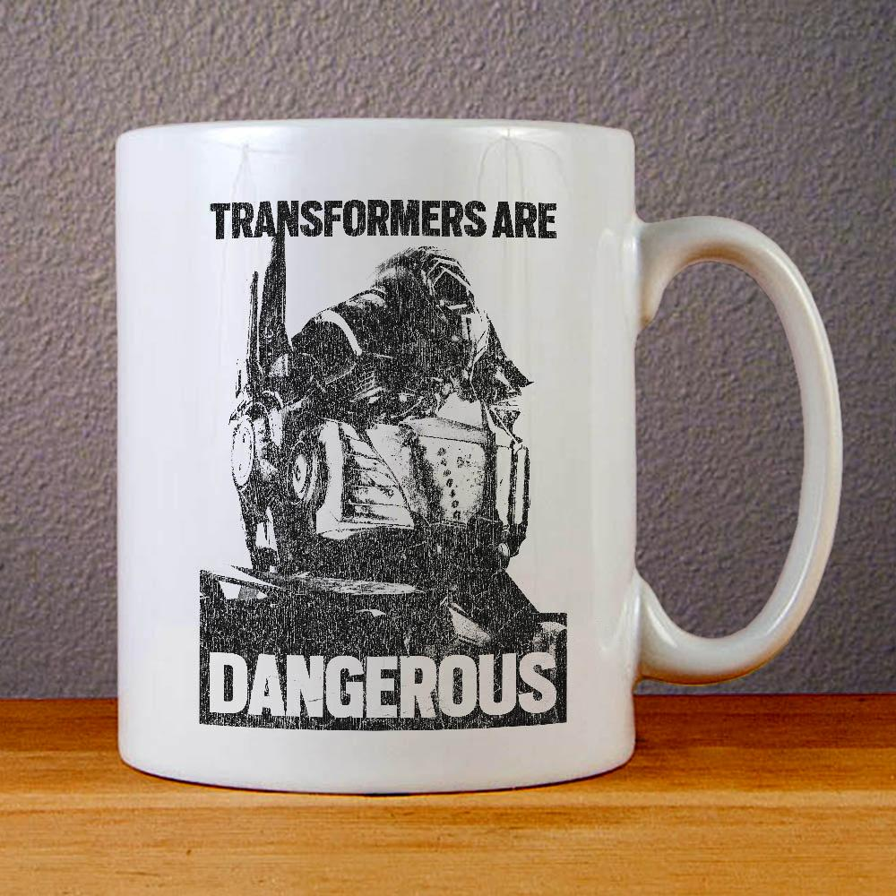 Transformers are Dangerous Movie Poster Ceramic Coffee Mugs