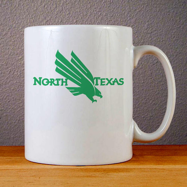 University of North Texas Eagle Logo Ceramic Coffee Mugs