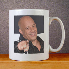 Vin Diesel Smile Face Ceramic Coffee Mugs