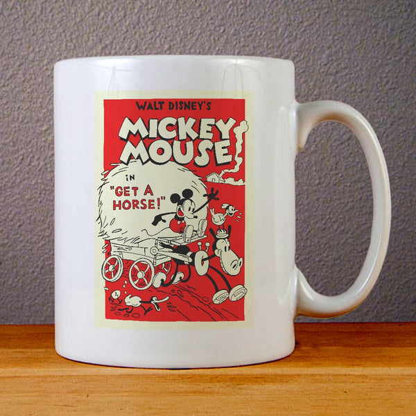 Vintage Mickey Mouse Poster Ceramic Coffee Mugs