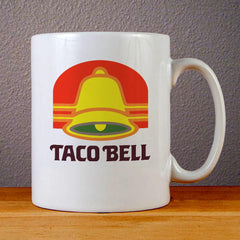 Vintage Taco Bell Logo Ceramic Coffee Mugs