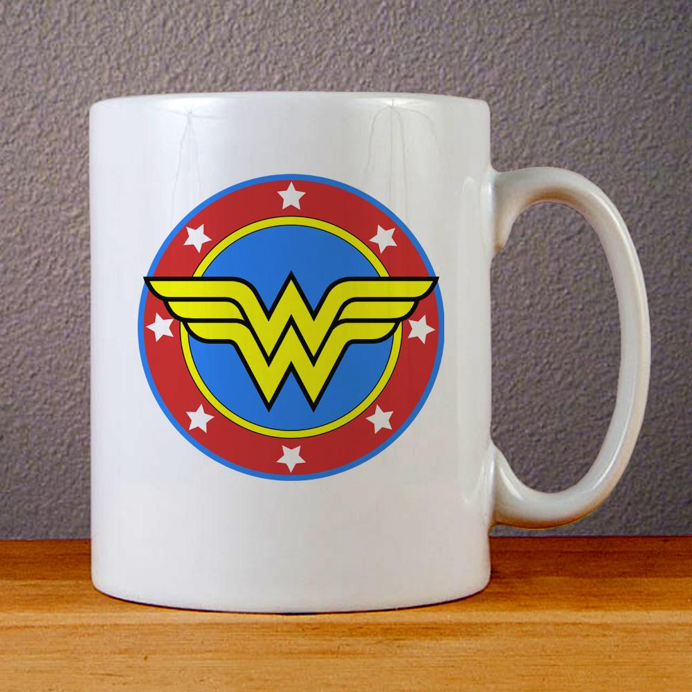 Wonder Woman Logo Ceramic Coffee Mugs