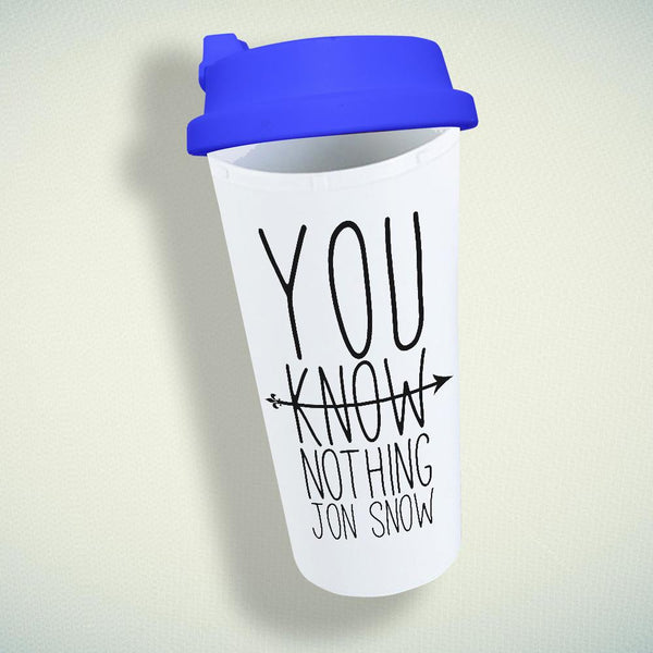 You Know Nothing Jon Snow Double Wall Plastic Mug