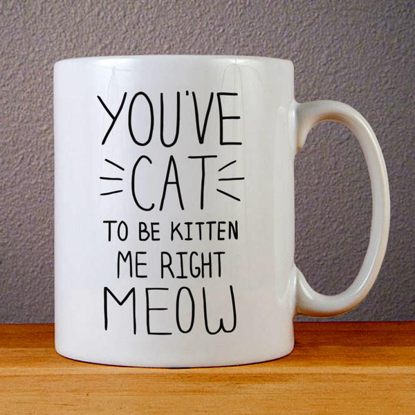 You have Cat To Be Kitten Me Right Meow Ceramic Coffee Mugs
