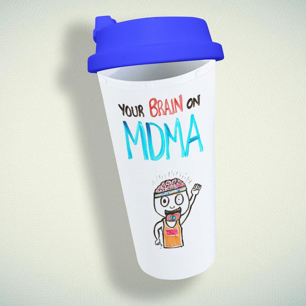 Your Brain On Mdma Double Wall Plastic Mug