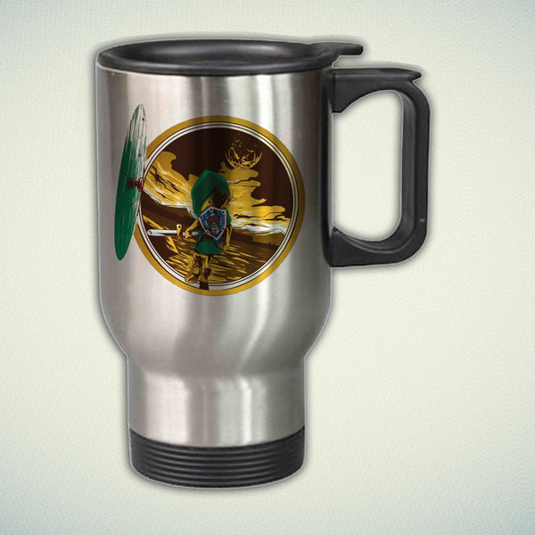 Zelda Majoras Mask Hobbit 14oz Stainless Steel Travel Mug