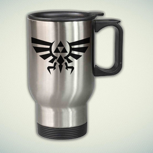 Zelda Triforce Logo 14oz Stainless Steel Travel Mug