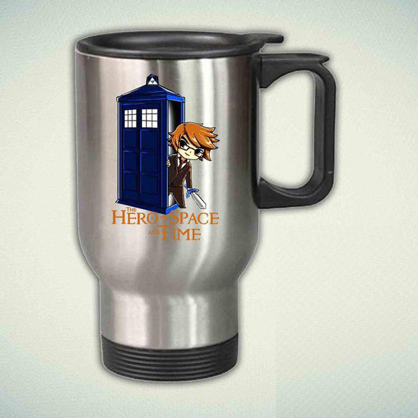 Zelda on tardis 14oz Stainless Steel Travel Mug