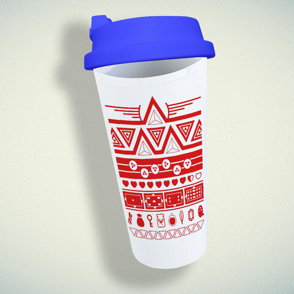 Zelda triforce Double Wall Plastic Mug