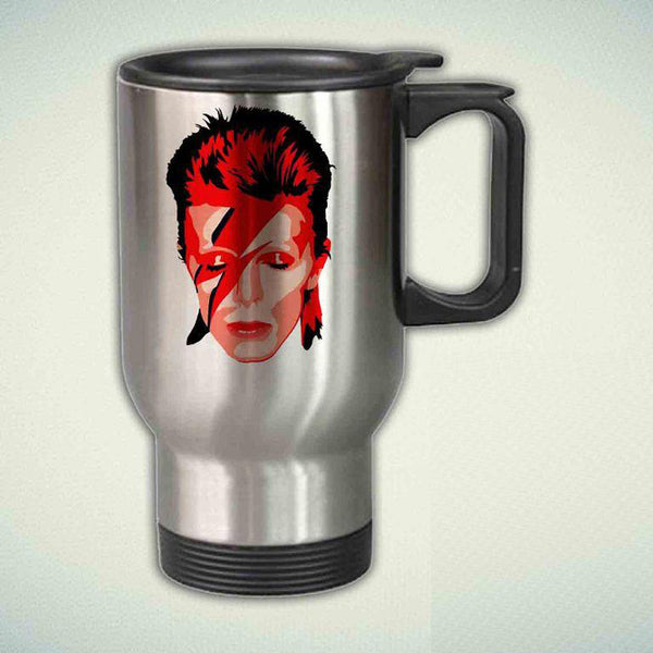 Ziggy Stardust David Bowie 14oz Stainless Steel Travel Mug