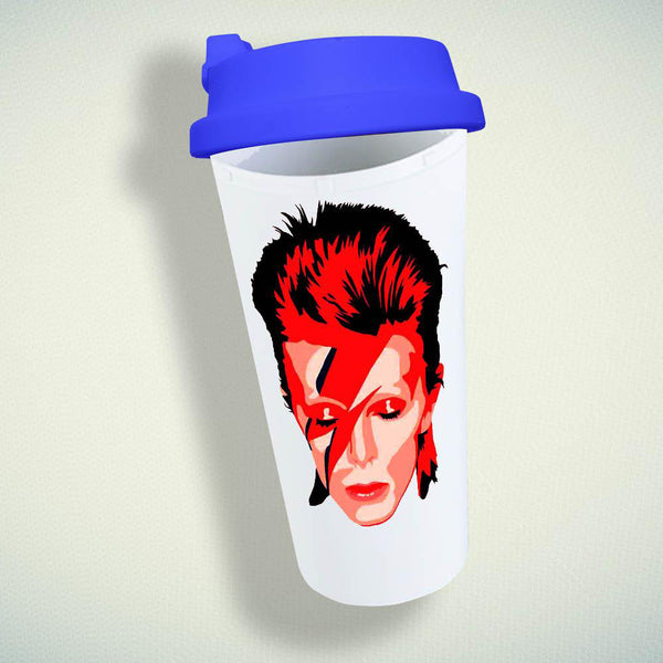 Ziggy Stardust David Bowie Double Wall Plastic Mug
