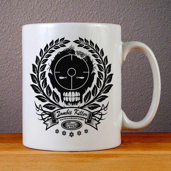 Zombie Killer Extraordinaire Ceramic Coffee Mugs