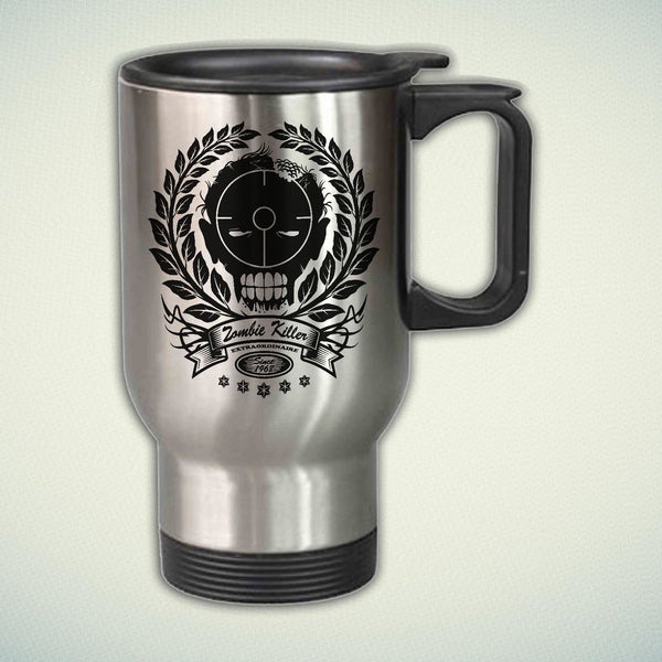 Zombie Killer Extraordinaire 14oz Stainless Steel Travel Mug