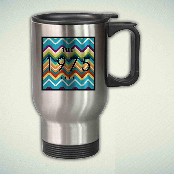 the 1975 band on Cute Chevron 14oz Stainless Steel Travel Mug
