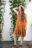 The Zandra Dress - Mocca