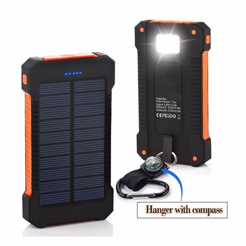 Rugged Waterproof Solar Power Phone Charger