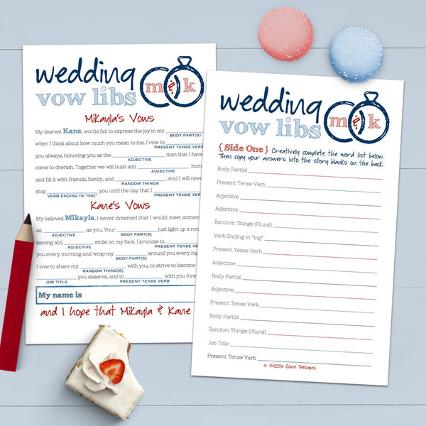 personalized wedding mad libs guest books