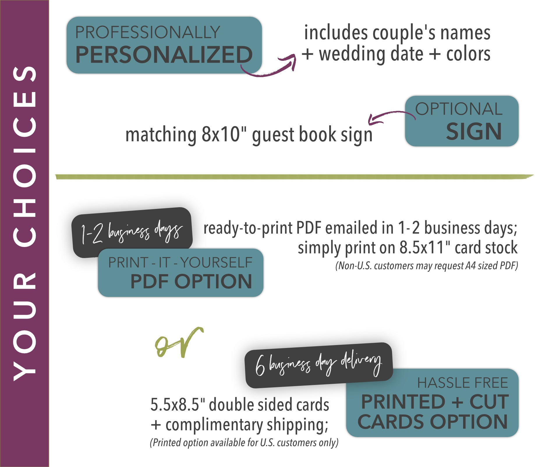 Halloween Wedding Guest Book Game (Custom) – Wild Truth Design Co