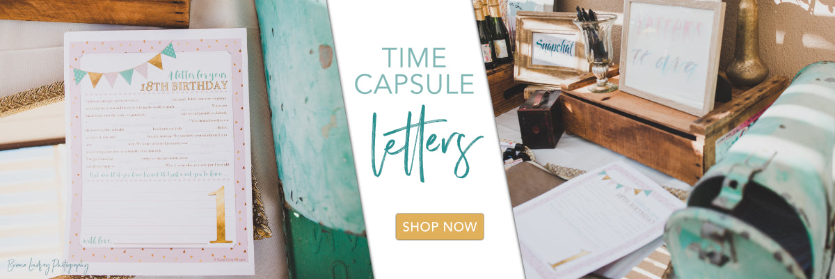 first birthday time capsule letters