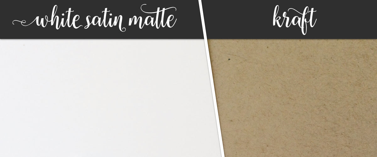 White & Kraft Stationery Papers | Sizzle Cone Designs