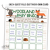 woodland animals baby shower printables