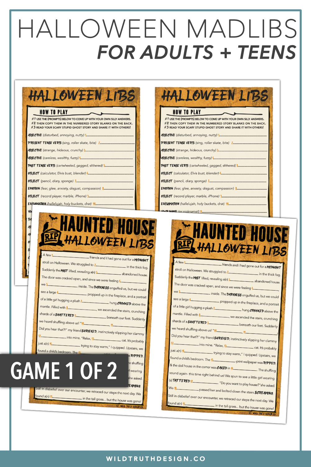halloween mad libs for adults teens fun party games printables jpg 1001x1501 adult halloween games