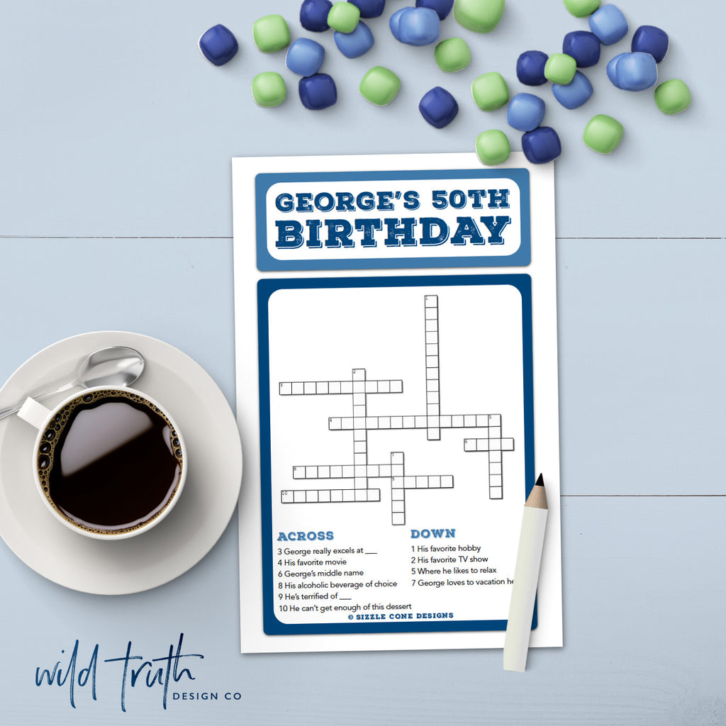 custom birthday crossword for adults