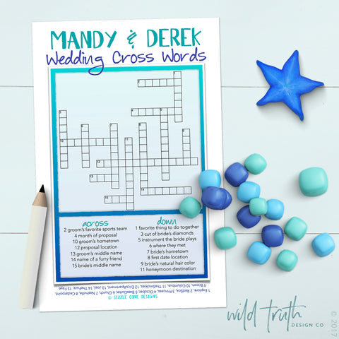 Custom Wedding Crossword Puzzle
