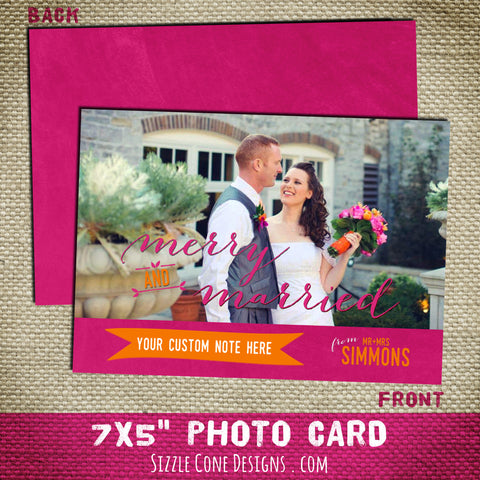 Newlyweds First Christmas Photo Card | Sizzle Cone Designs