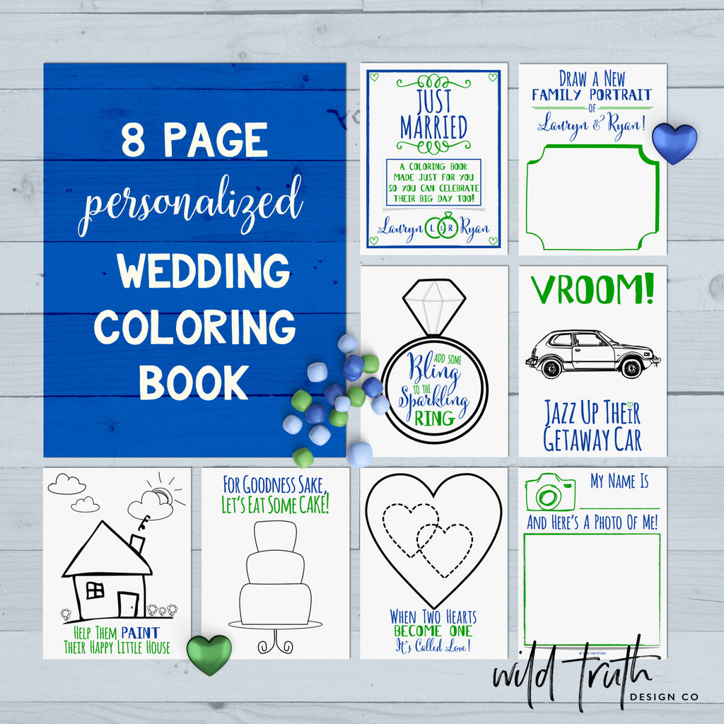Custom Wedding Coloring Book