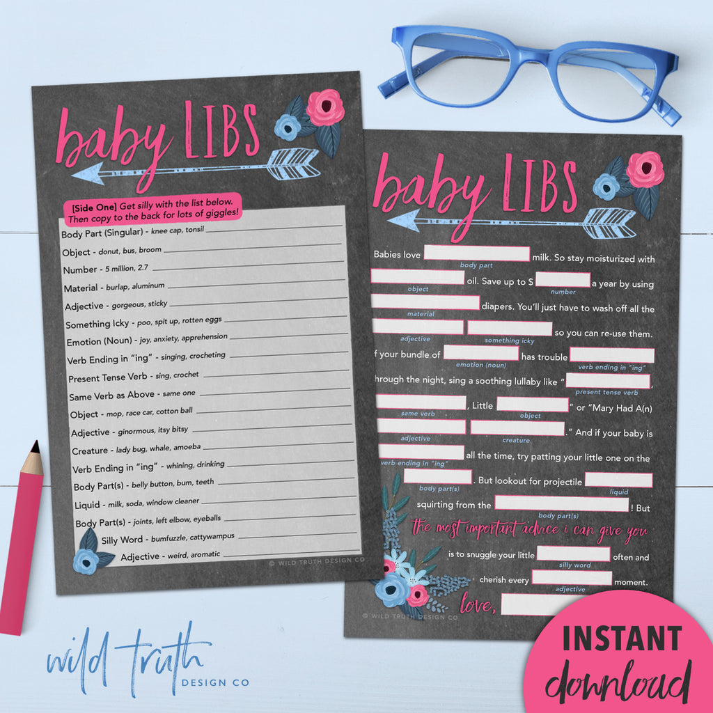 baby advice mad libs printable