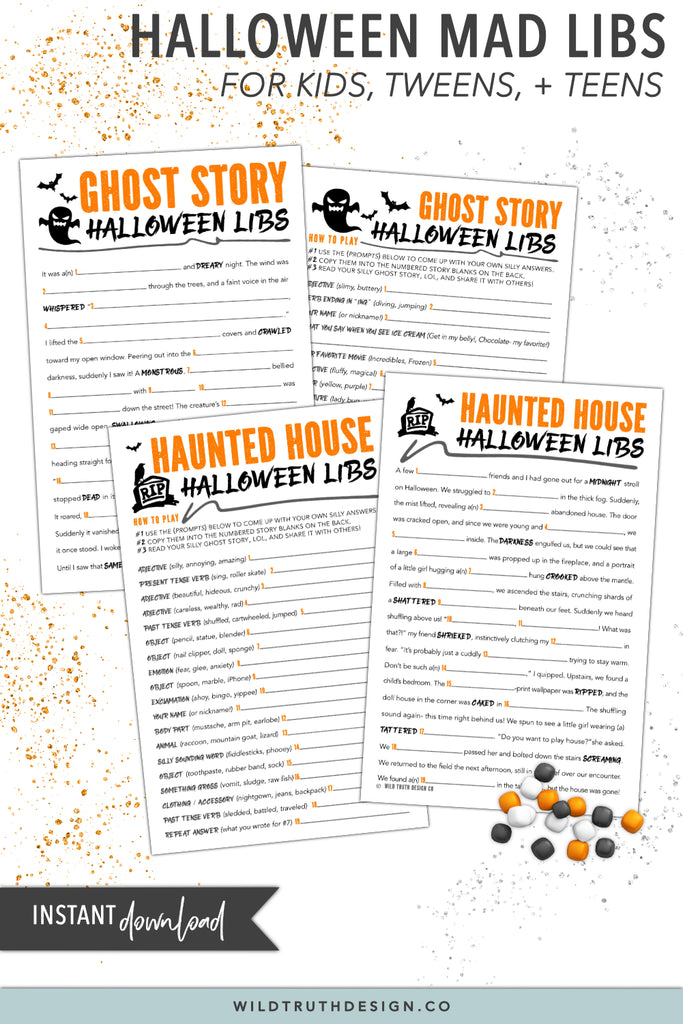 photograph relating to Mad Libs for Kids Printable identified as Halloween Nuts Libs For Tweens - Game titles For Small children Celebration - Clroom Functions - Printables [#H110] - Wild Reality Structure Co